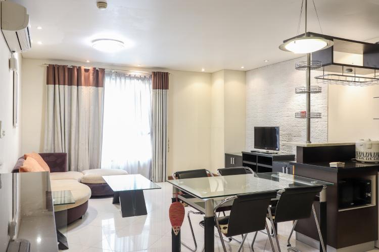 Tổng Quan Nhà Cho thuê căn hộ The Lancaster 2PN, tầng thấp, đầy đủ nội thất, hướng Bắc
