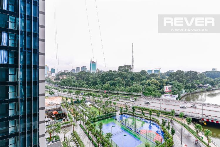 View Căn hộ Vinhomes Golden River tầng thấp, tháp A1, 3 phòng ngủ, full nội thất