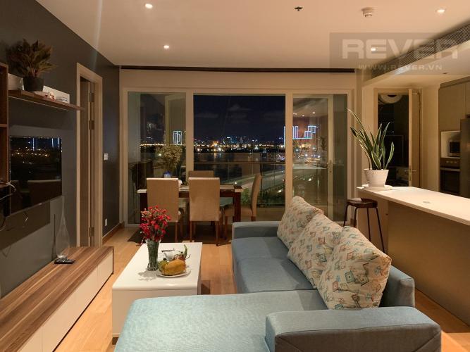 Phòng Khách căn hộ Diamond Island - Đảo Kim Cương Cho thuê căn hộ Diamond Island - Đảo Kim Cương 2PN, tháp Brilliant, đầy đủ nội thất, view sông thoáng mát