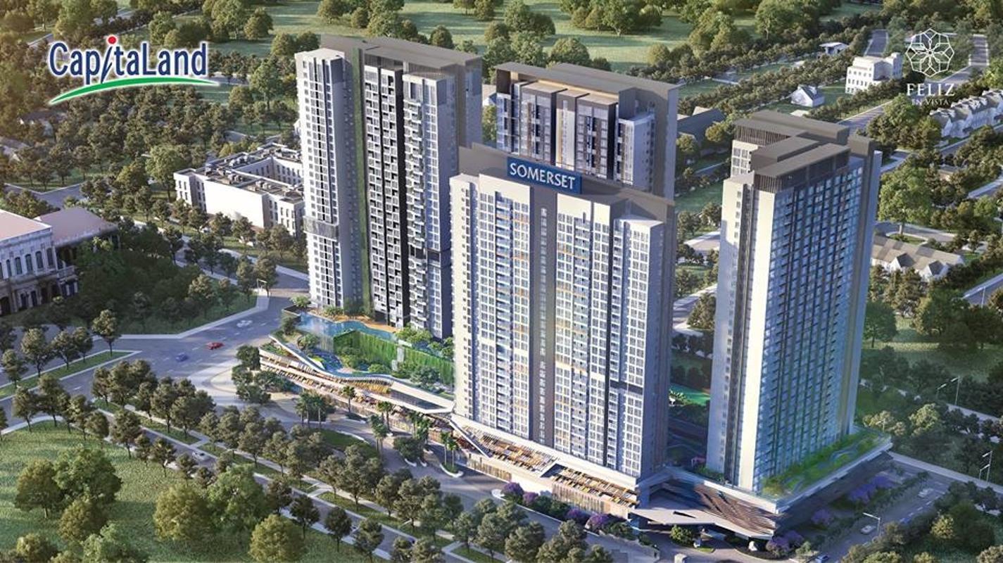 ca-n-ho-somerset-du-a-n-feliz-en-vista-cu-a-chu-da-u-tu-capitaland Bán căn hộ Feliz en Vista 3PN, tháp Cruz, diện tích 106m2, đầy đủ nội thất, hướng Đông Nam