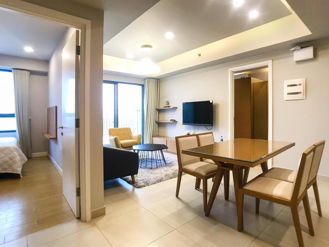 Phòng khách Cho thuê căn hộ Masteri Thảo Điền 2PN, tháp T4, diện tích 70m2, đầy đủ nội thất, view sông thoáng mát