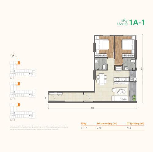 layout căn hộ Ricca Căn hộ Ricca Quận 9 tầng cao nội thất cơ bản, thiết kế hiện đại.