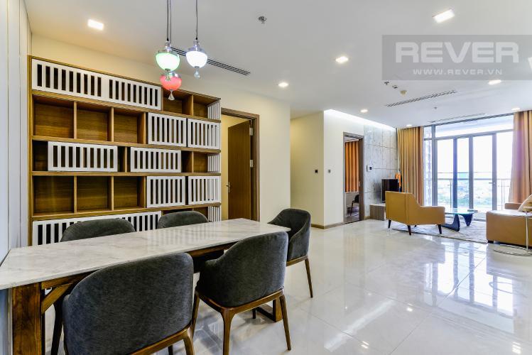 Phòng Khách Căn hộ Vinhomes Central Park 3 phòng ngủ tầng trung P7 view hồ bơi