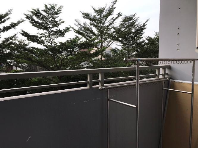 Ban công Him Lam Riverside Căn hộ Him Lam Riverside nội thất đầy đủ, view thành phố.