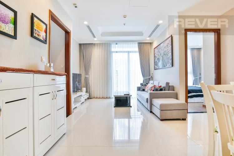 Phòng khách Căn hộ Vinhomes Central Park tầng cao hướng Đông Bắc tháp Central 3
