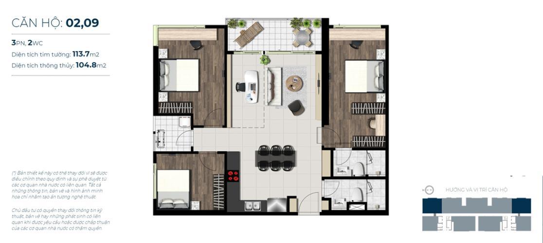 Căn hộ tầng trung Sky 89 An Gia nội thất cơ bản, tiện nghi.