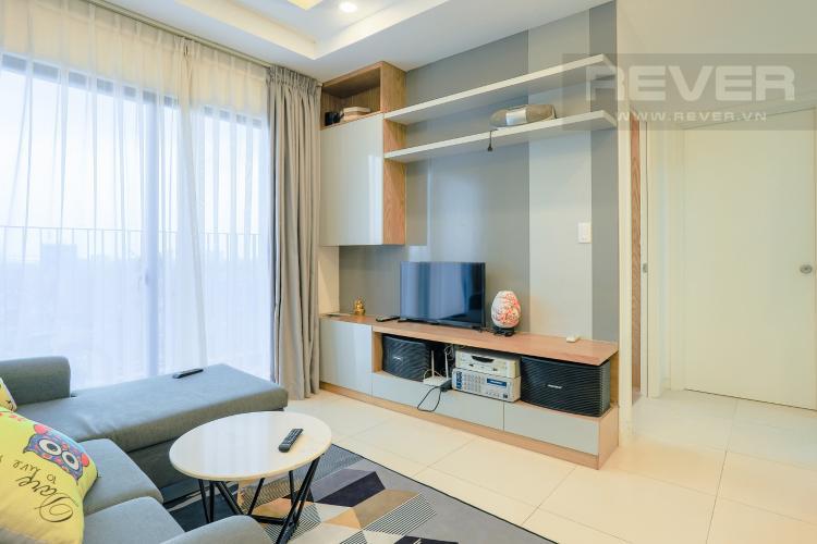 Phòng Khách và Lobby Bán căn hộ M-One Nam Sài Gòn tầng trung, 2PN đầy đủ nội thất