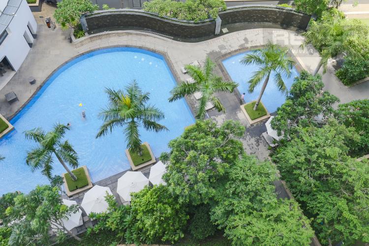 View Cho thuê căn hộ City Garden tầng trung 1 phòng ngủ, đầy đủ nội thất, view hồ bơi mát mẻ