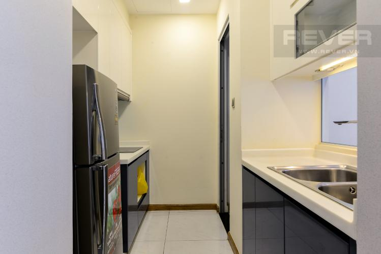 Nhà Bếp Cho thuê căn hộ Vinhomes Central Park 2PN, đầy đủ nội thất, view sông, hướng Đông Nam đón gió