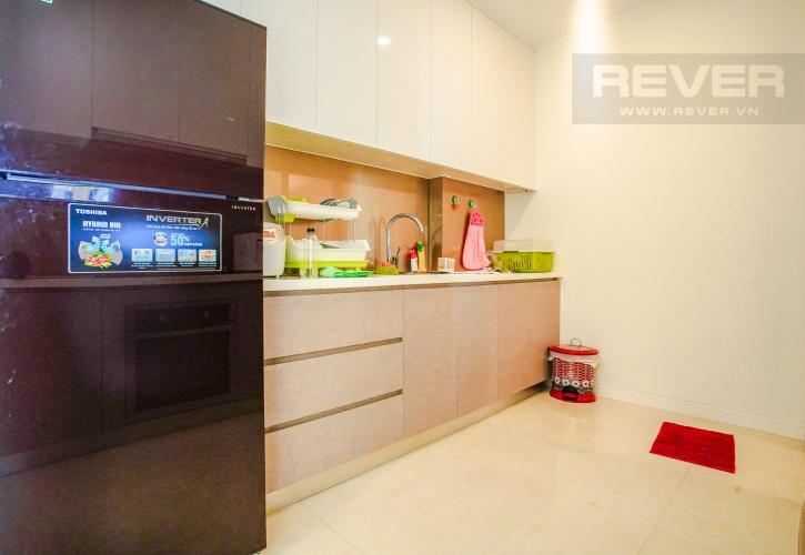 Phòng Bếp Cho thuê căn hộ Masteri Millennium 2PN, block A, đầy đủ nội thất, view sông, Bitexco và Landmark 81