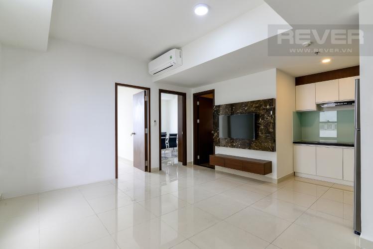 Phòng Khách Cho thuê căn hộ The Tresor 2PN, tháp TS2, đầy đủ nội thất, view sông Bến Nghé
