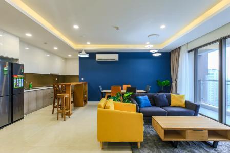 Cho thuê căn hộ Masteri Millennium tầng trung 3PN đầy đủ nội thất, diện tích rộng rãi