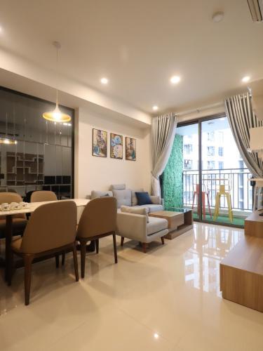 phòng khách căn hộ The Tresor Căn hộ tầng cao The Tresor nội thất đầy đủ view thành phố thoáng mát.