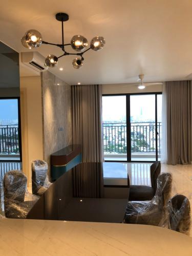Phòng khách căn hộ Riviera Point Căn hộ tầng cao Riviera Point 2 phòng ngủ, nội thất đầy đủ.