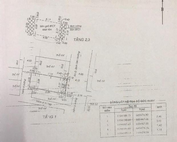 Bản vẽ nhà phố Đinh Tiên Hoàng Bình Thạnh Nhà phố hướng Đông hẻm 2.5m, diện tích 23.1m2, bàn giao sổ hồng riêng.