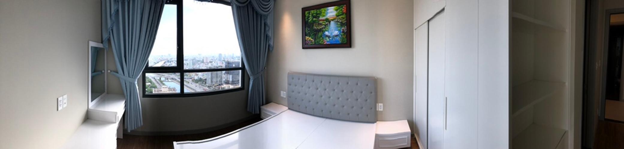 Phòng ngủ căn hộ The Gold View Căn hộ The Gold View 2 phòng ngủ nội thất đầy đủ view hồ bơi.