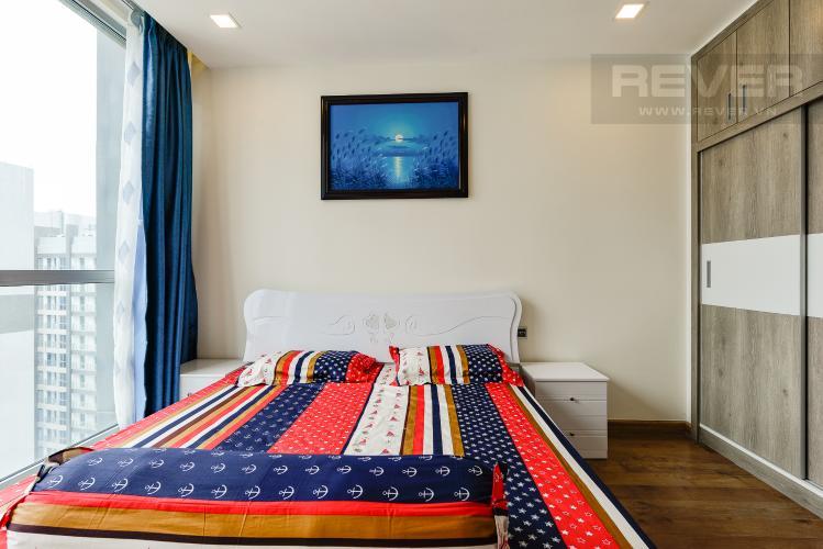 Phòng ngủ 1 Căn hộ Vinhomes Central Park 2 phòng ngủ, tầng cao P6, nội thất đầy đủ