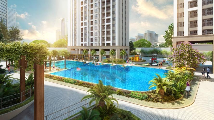 phoicanhtongquancanhorichstar Căn hộ RichStar nội thất đầy đủ, view hồ bơi cực đẹp.