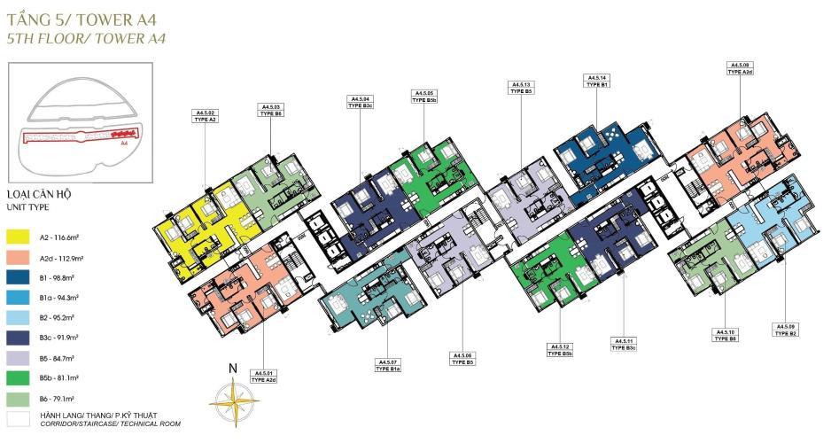 Mặt bằng dự án Diamond Alnata, Tân Phú Căn hộ Diamond Alnata diện tích 90m2, thiết kế hiện đại
