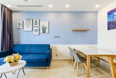 Căn hộ Vinhomes Golden River tầng trung, tháp Aqua 1, 1 phòng ngủ, full nội thất