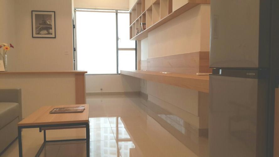 Phòng khách officetel RiverGate Residence Cho thuê officetel RiverGate Residence tầng thấp tháp A, diện tích 33m2 - 1 phòng ngủ, đầy đủ nội thất