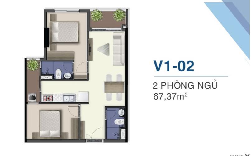 Mặt bằng căn hộ Q7 Saigon Riverside Bán căn hộ Q7 Saigon Riverside ban công hướng Bắc, view sông Sài Gòn.