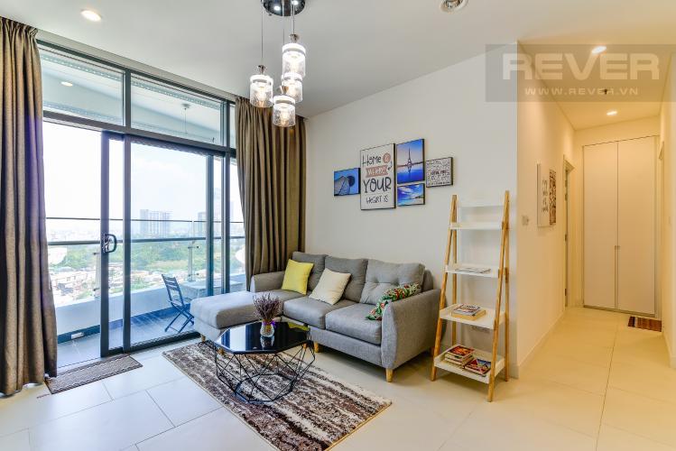 Phòng Khách Căn hộ City Garden 1PN, view đẹp, nội thất đầy đủ