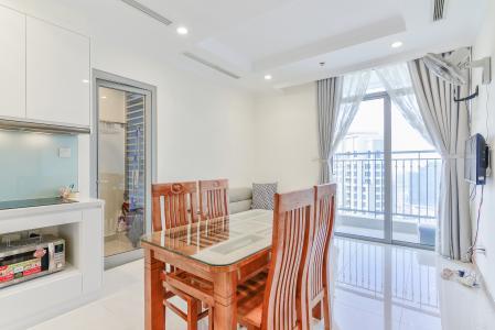 Căn hộ Vinhomes Central Park 2 phòng ngủ tầng cao L2 nội thất đầy đủ