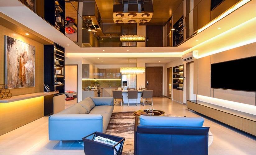 Phòng khách Sky An Gia, Quận 7 Căn hộ Sky 89 An Gia tầng cao, ban công đón gió thoáng mát.