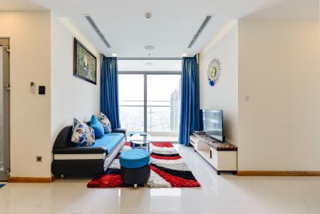Căn hộ Vinhomes Central Park 2 phòng ngủ, tầng cao P6, nội thất đầy đủ