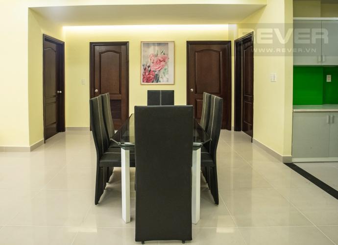 Phòng Ăn Cho thuê căn hộ Riverside Residence, tầng thấp, đầy đủ nội thất, hướng Đông đón gió