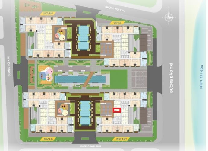 M1.14 Lo2 Bán căn hộ Q7 Saigon Riverside, 1 phòng ngủ, diện tích 53.2m2, chưa bàn giao