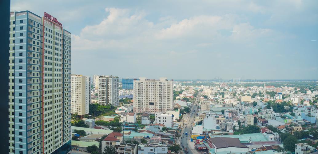 View Bán căn hộ duplex La Astoria 3PN, tháp 1, diện tích 140m2, đầy đủ nội thất, view Quận 2 rộng lớn
