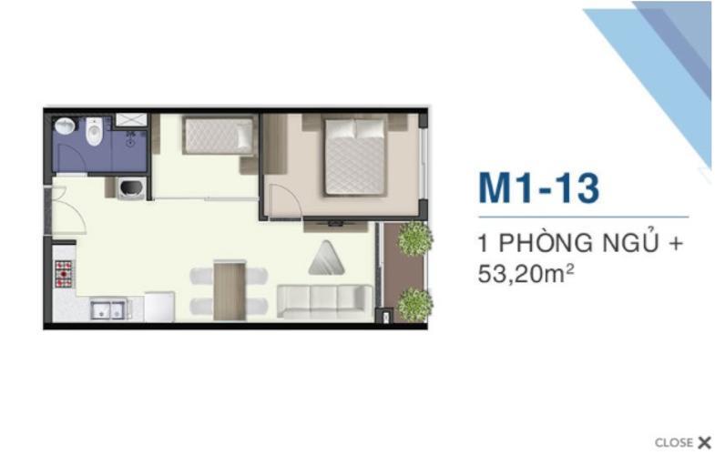 Bán căn hộ ban công hướng Đông 1 phòng ngủ Q7 Saigon Riverside