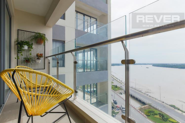 Balcony Căn hộ Diamond Island - Đảo Kim Cương tầng trung, tháp Maldives, 1PN view sông
