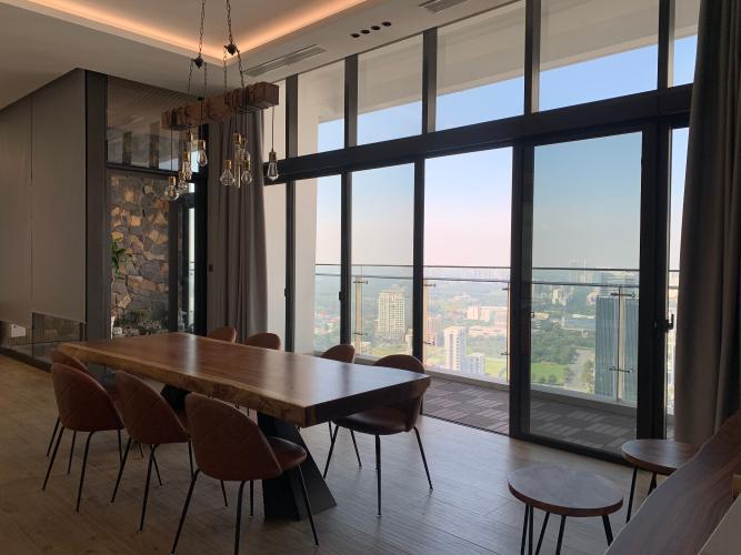 Căn hộ Penthouse Riviera Point đầy đủ nội thất, view sông thơ mộng.