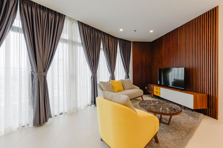 Căn hộ City Garden tầng cao 2PN đầy đủ nội thất