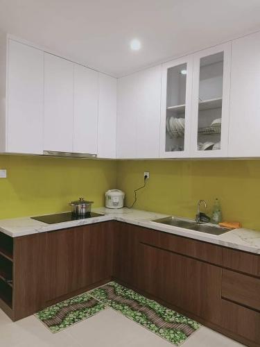 bếp căn hộ căn hộ Vinhome Grand Park Căn hộ Vinhomes Grand Park tầng cao, nhìn phía thành phố.