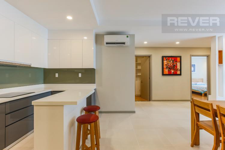 Phòng Bếp Căn hộ The Gold View 2 phòng ngủ tầng trung A2 đầy đủ nội thất