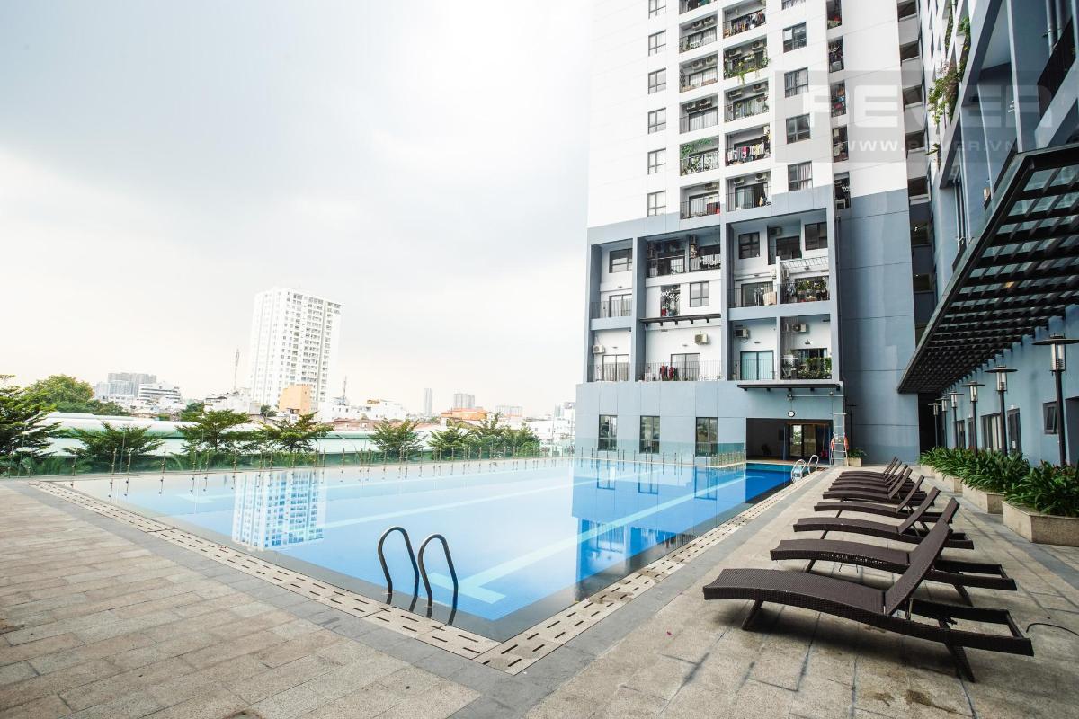 phòng gym tại hồ bơi Cho thuê căn hộ M-One Nam Sài Gòn 3PN, tầng 9, tháp T1, đầy đủ nội thất, view thoáng