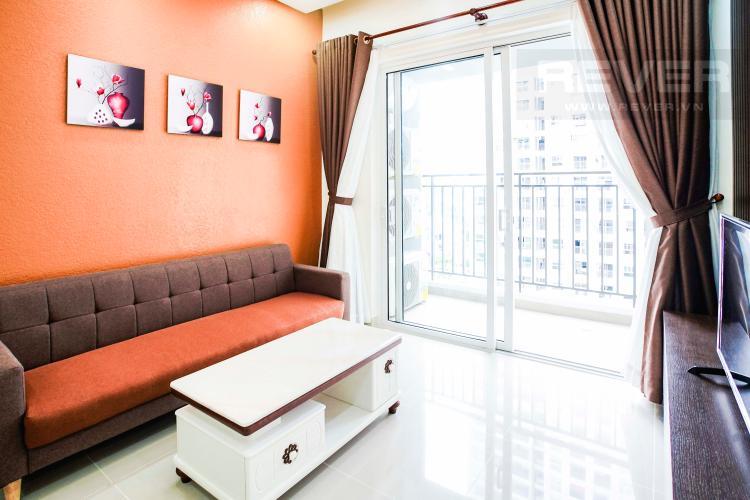 Phòng Khách Cho thuê căn hộ Sunrise Riverside 2PN, hướng Nam, đầy đủ nội thất, view hồ bơi