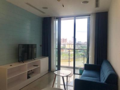 Cho thuê căn hộ Vinhomes Golden River 1 phòng ngủ, tháp The Aqua 1, đầy đủ nội thất, view sông thoáng mát
