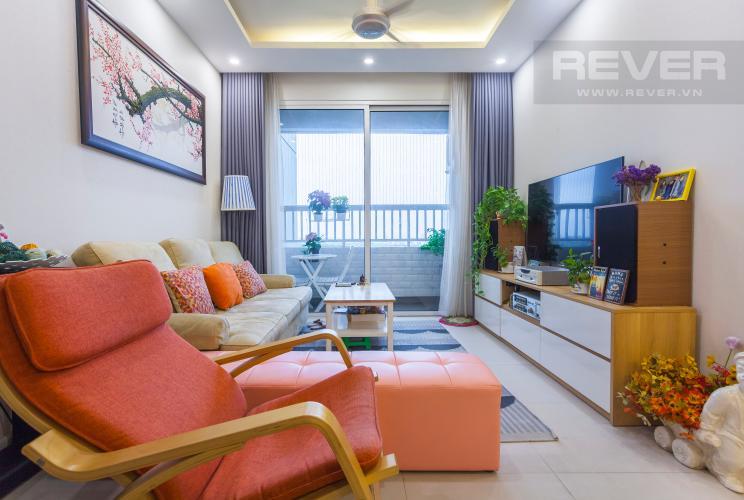 Phòng khách Căn hộ Lexington Residence tầng trung LA, 3 phòng ngủ, nội thất đầy đủ