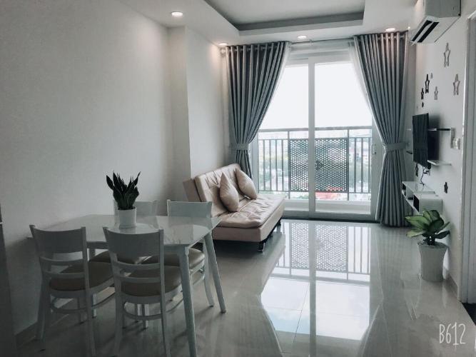 Cho thuê căn hộ Saigon Mia 2 phòng ngủ, tầng 15, đầy đủ nội thất, hướng Tây, có ban công thoáng mát