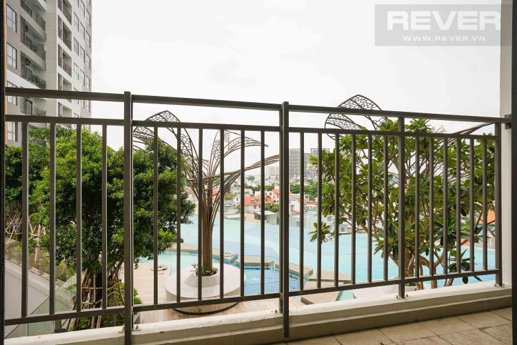 ban công căn hộ THE SUN AVENUE Bán căn hộ The Sun Avenue 3PN, ban công Đông Nam, view hồ bơi
