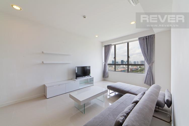 Phòng khách Căn hộ Sunrise City 3 phòng ngủ tầng trung V1 view sông