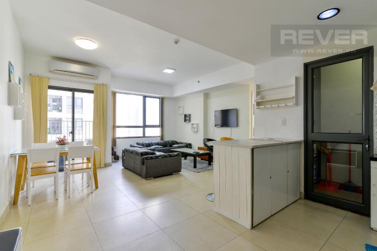Phòng Khách Cho thuê căn hộ Masteri Thảo Điền 2PN, tầng trung, tháp T3, đầy đủ nội thất, view hồ bơi
