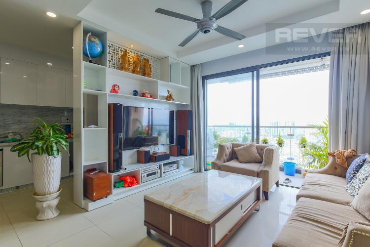 Phòng Khách Bán căn hộ The Gold View tầng cao, 3PN, đầy đủ nội thất, view đẹp