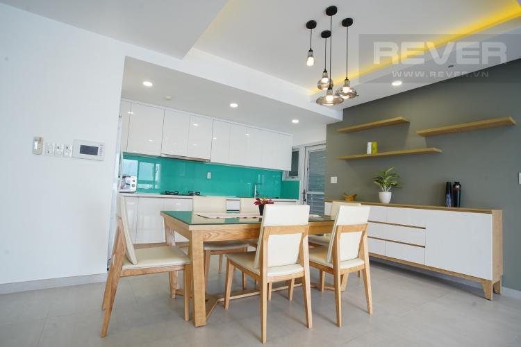 Phòng Ăn Bán căn hộ Happy Valley 3PN, tầng thấp, đầy đủ nội thất, view trực diện sông