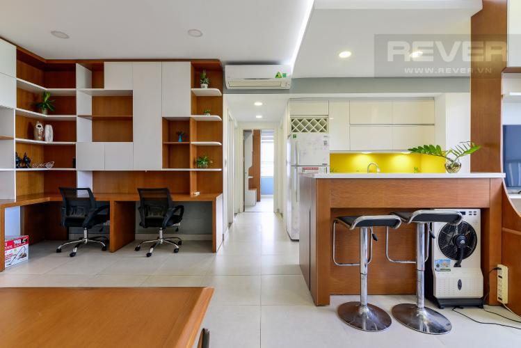 Phòng Khách & Bếp Cho thuê căn hộ Lexington Residence 3PN, tháp LA, đầy đủ nội thất, view hồ bơi